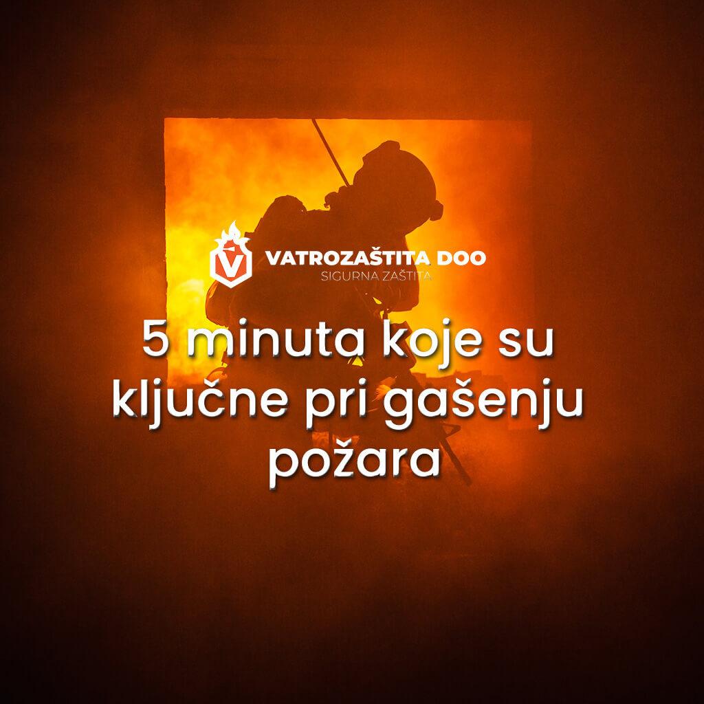 5 minuta koje su ključne pri gašenju požara