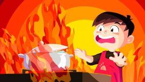 djeca i požar