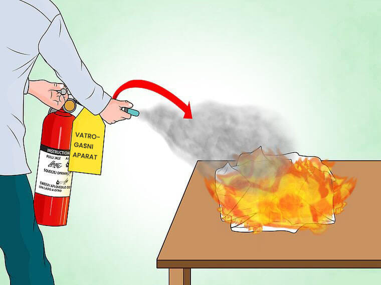Ugasiti vatru vatrogasnim aparatom